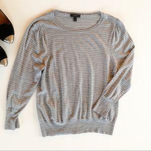 J. Crew Knit Long-Sleeve Shirt Striped